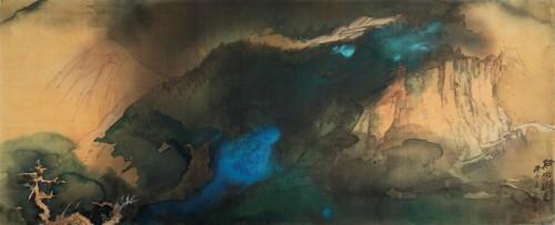 1984年张大千作品拍卖世界纪录《溪桥晚色》亮相华艺国际